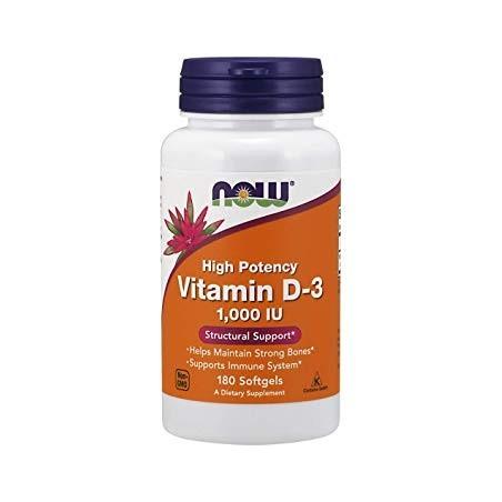 Vitamin D-3 1000 IU 180 softgel kapsula NOW FOODS