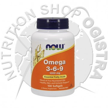 NOW FOOD -Omega 3-6-9 100 softgel-1000 mg
